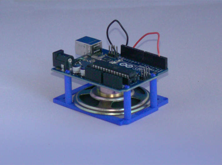 High desktop stand for Arduino Uno / Leonardo 3d printed Printed in Royal Blue Strong & Flexible