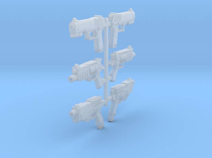 1/18 Scifi Pistols (6) 3d printed