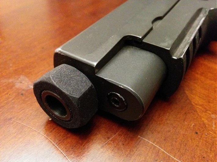 Nut Job 14mmx1 Negative Airsoft Muzzle Tip 3d printed