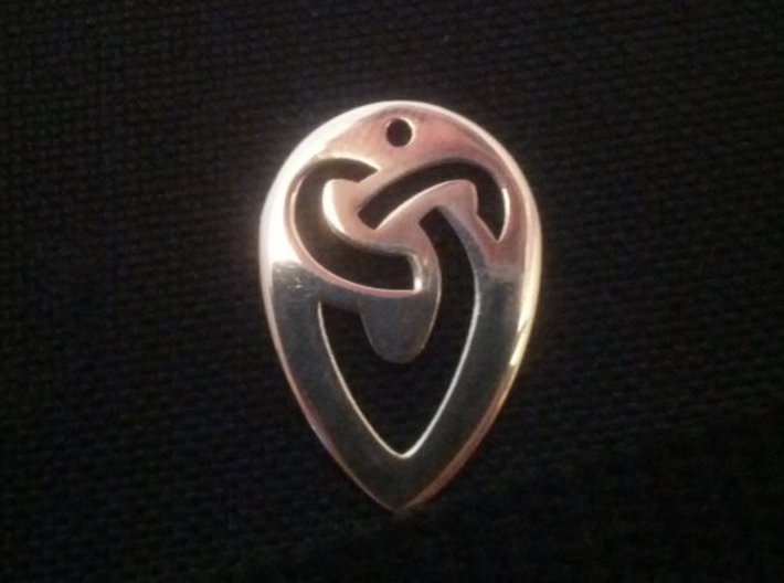 1mm Celtic Jazz Pick 3d printed