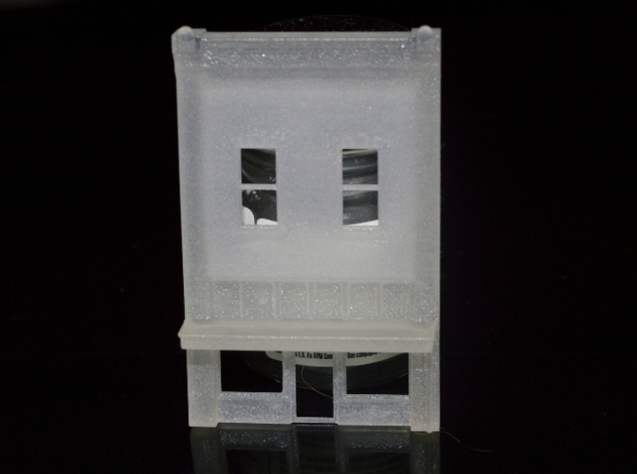 N-Scale Coffee House Facade 3d printed Production Sample