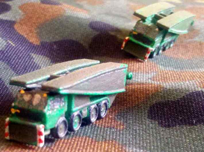 1/300 PM 55 Bridge on Tatra 813 x2 3d printed Models printed in WSF and painted