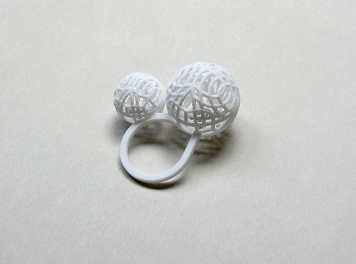 2 Polyps ring--singlefinger ring 3d printed Add a caption...