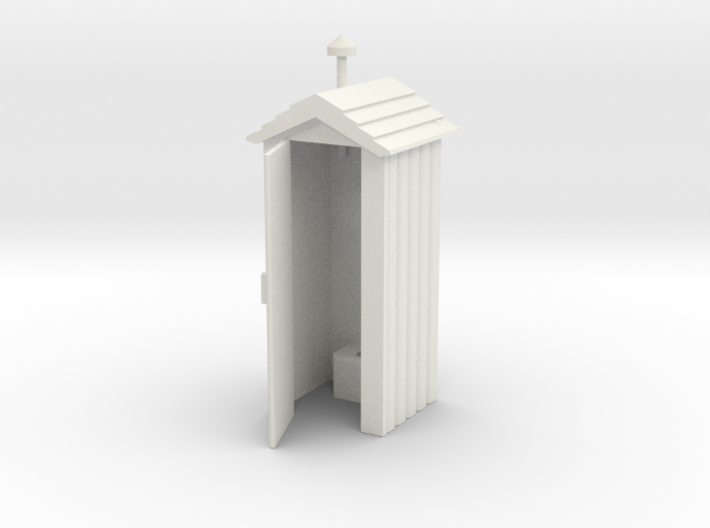 Outhouse Door Open - 'G' 22.5:1 Scale 3d printed