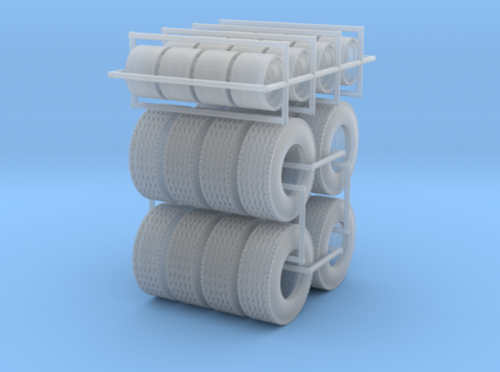 1/64 Floater Wheels and Tires (8 Sets) 3d printed