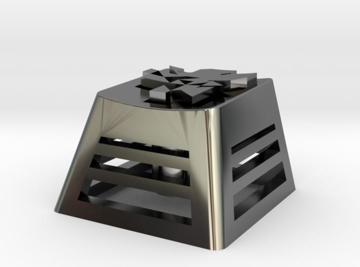 NERV Logo Backlit Keycap (R4, 1x1) 3d printed