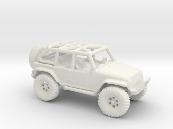 Jeep Rubicon JK 1/100 Scale 3d printed