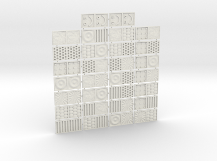 Tactile Texture Dominoes for the blind 1.0 3d printed