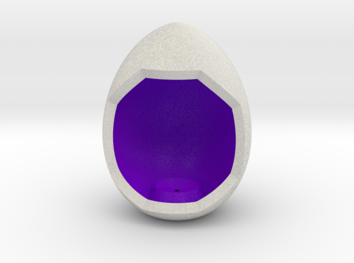 LuminOrb 2.3 - Egg Stand 3d printed Shapeways render of Egg Display Stand for WISDOM in Full Color Sandstone