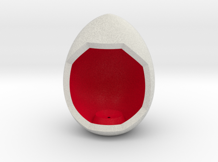 LuminOrb 1.1- Egg Stand 3d printed Shapeways render of Egg Display Stand for LOVE in Full Color Sandstone