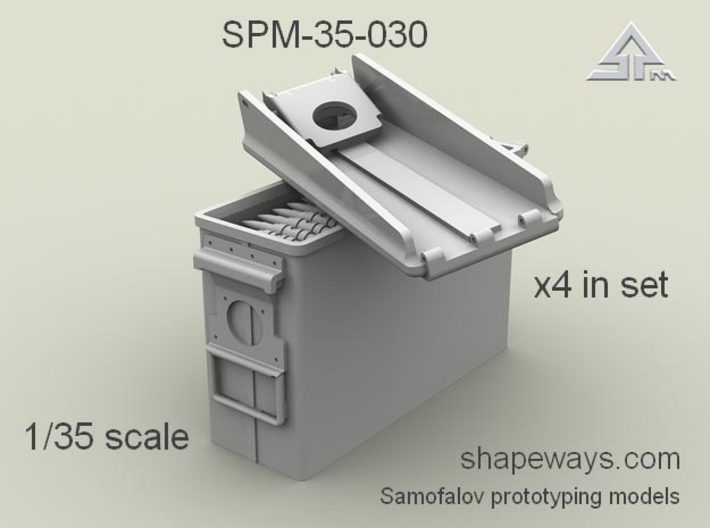 1/35 SPM-35-030 30.cal (7,62mm) ammobox opened 3d printed