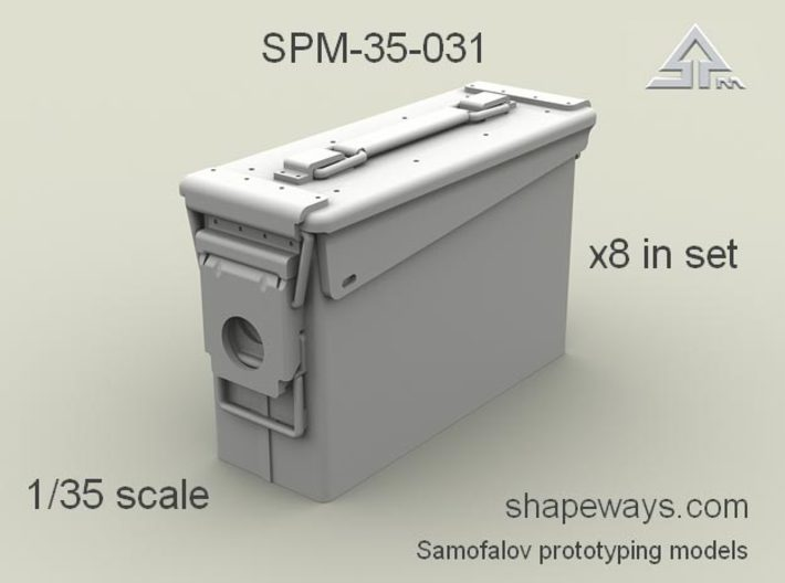 1/35 SPM-35-031 30.cal (7,62mm) ammobox 3d printed