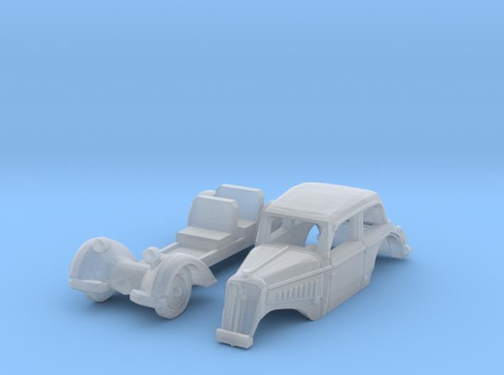 DKW/IFA F8 Limousine (TT 1:120) 3d printed