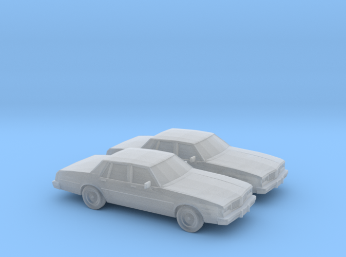 1/160 2X 1980-85 Oldsmobile Delta 88 Sedan 3d printed