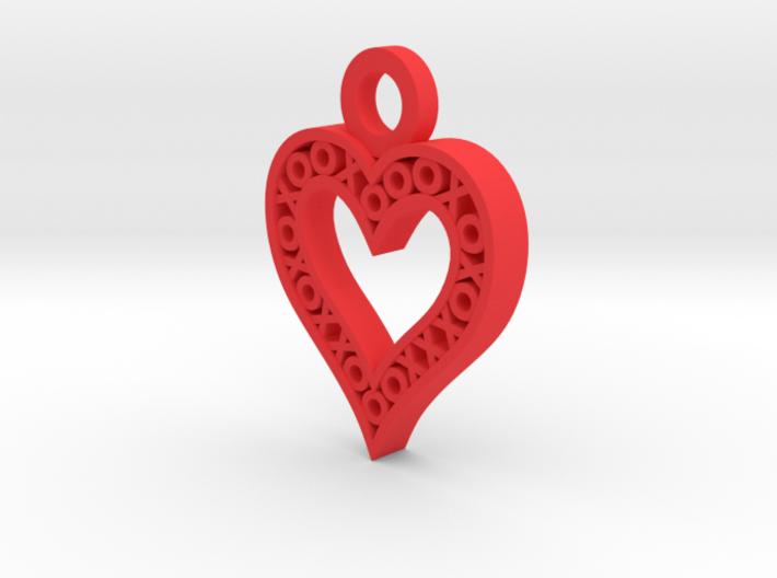 XO Heart Keyring 3d printed