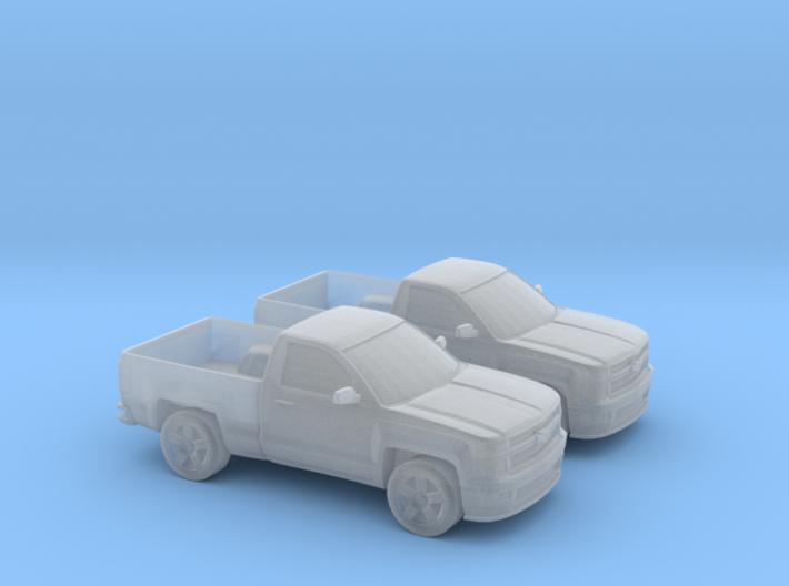 1/160 2X 2015 Chevrolet SILVERADO Single Cab 3d printed