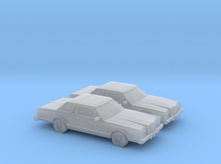 1/160 2X 1980 Lincoln Mark VI 3d printed