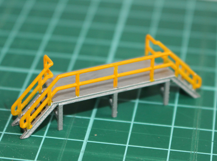 N Scale Train Crew Platform 3d printed Painted version in Frosted Ultra Detail