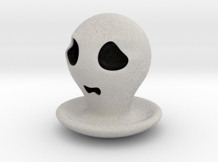 Halloween Character Hollowed Figurine:FearfulGhost 3d printed