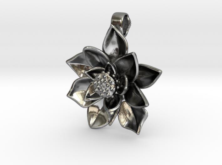 Sacred Lotus Pendant - 3 cm 3d printed