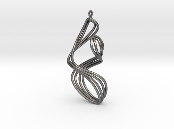 AKUSENTO Metal Earring 3d printed