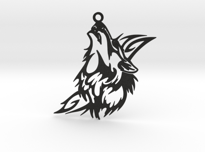 Wolf Pendant 3d printed