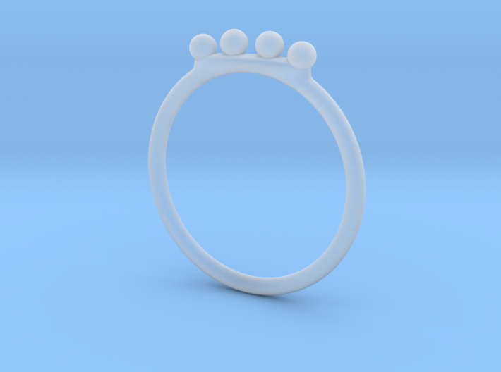 4 Bead Stacking Ring 3d printed