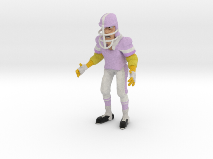 Old Football Player 3d printed