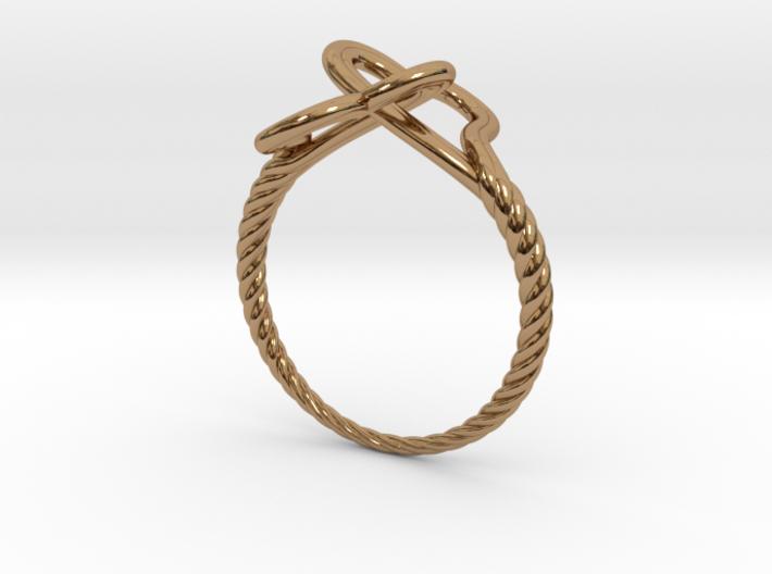 Locked Love Ring 3d printed