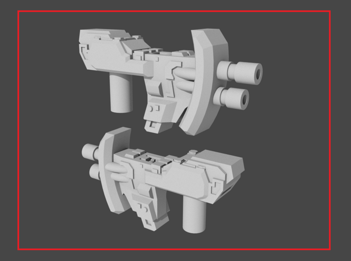 """""""MICRON"""" Transformers Weapons Set (5mm post) 3d printed"""
