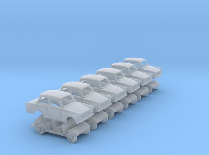 Trabant 601 6er Satz Spur N 3d printed
