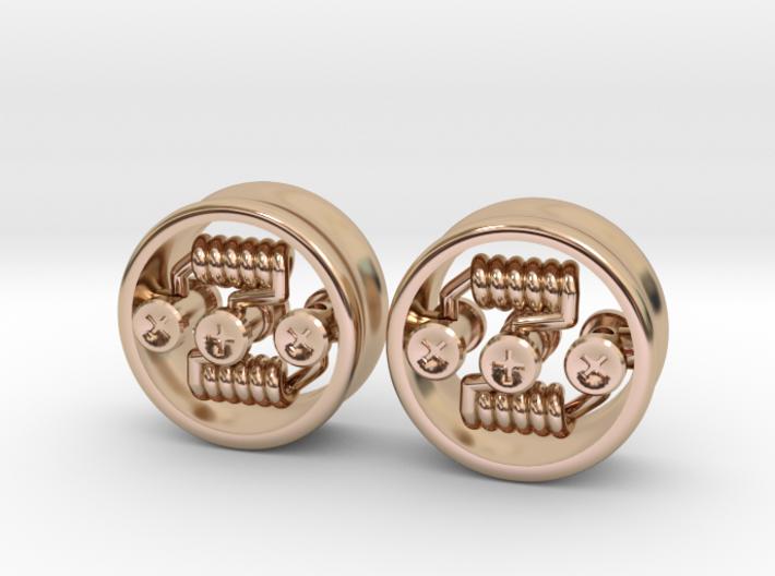 """NEW! RDA PLUG STYLE EARRINGS 5/8"""" (Pair) 3d printed"""
