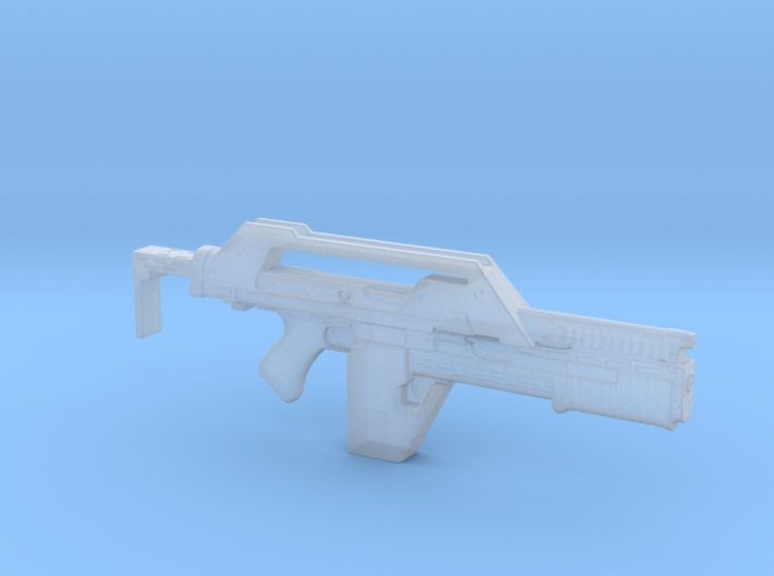 Pulse Rifle Aliens Uscm 52mm 3d printed