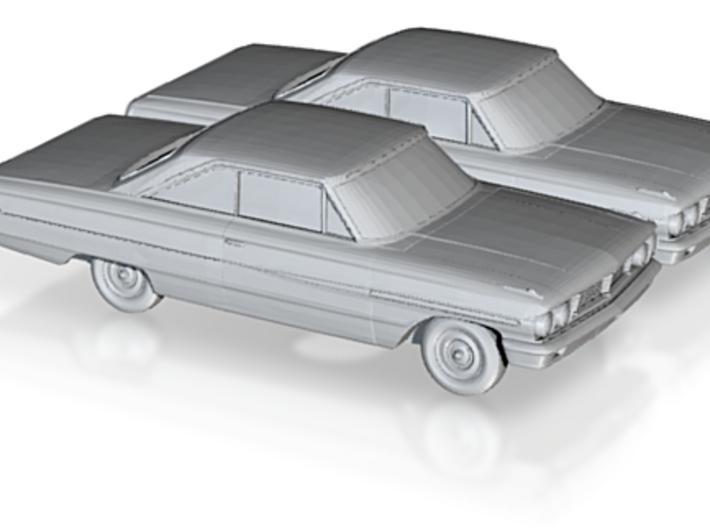 1/160 2X 1966 Ford Galaxy 3d printed