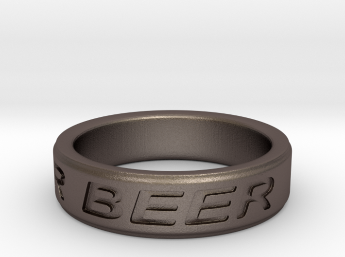 """NEED FOR BEER"" Ring 3d printed"