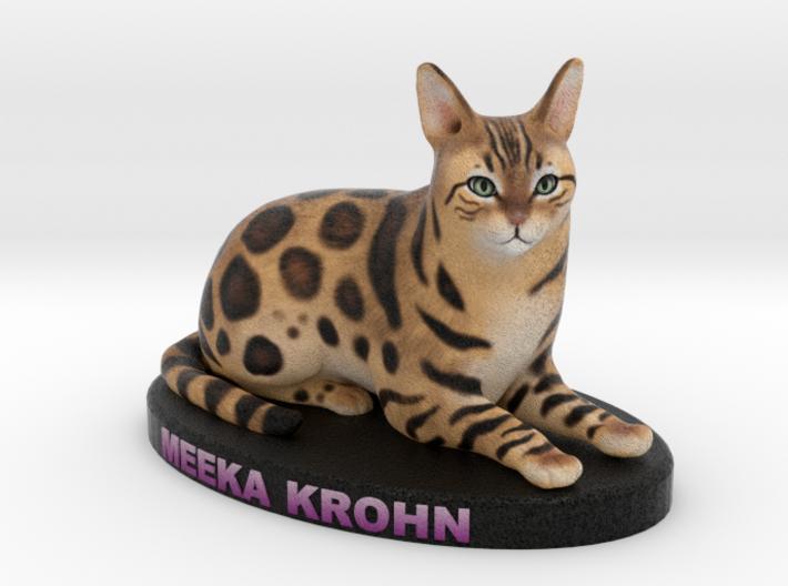 Custom Cat Figurine - Meeka 3d printed