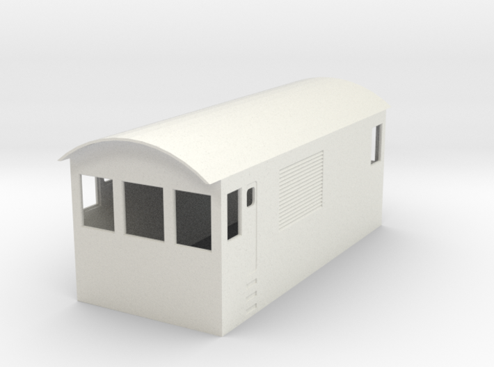 O Scale Critter Body 3d printed How the Body Looks in White