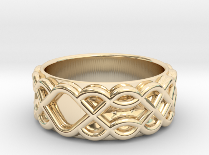 Celtic Wedding Ring - Size 12 1/2 3d printed