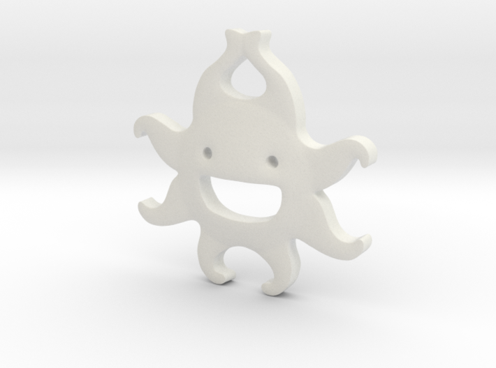It's Summer Time! Smiling Sun Pendant 3d printed