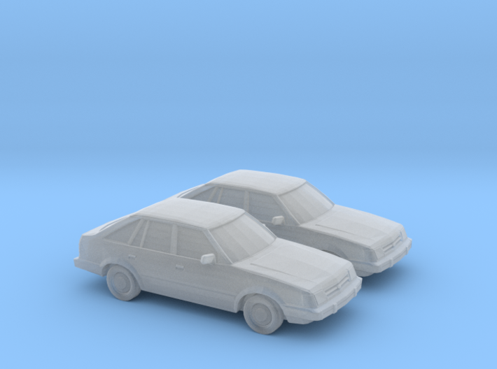 1/160 2X 1985-87 Ford Escort 3d printed