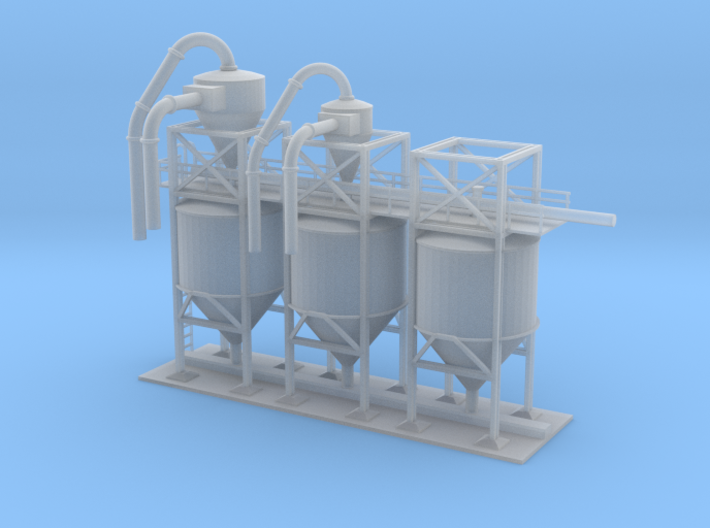 Clay Spur Mixing Tanks Building 3 Z Scale 3d printed Mixing tanks Z scale