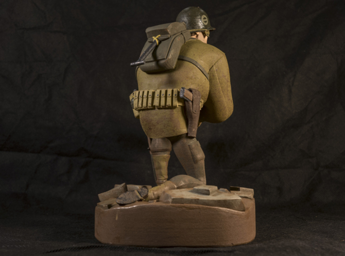 The Soldier (Large) 3d printed This is the result after hand painting it with Revell Aqua Paints. Not available as a painted piece.