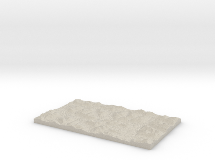 Model of Porcupine Creek 3d printed