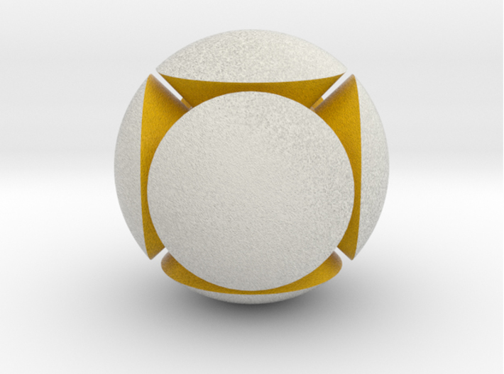 LuminOrb 2.4 - GENEROSITY 3d printed Shapeways render of GENEROSITY in Full Color Sandstone