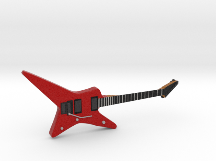 Star Shape Guitar 1:18 3d printed