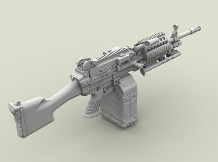 1/32 SPM-32-005 m249 MK48mod0 7,62mm machine gun 3d printed