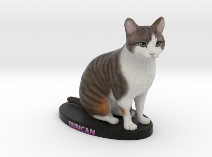 Custom Cat Figurine - Duncan 3d printed