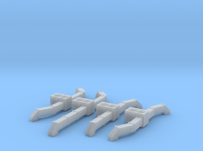 Rooftop AC Unit Set Of 4 Z Scale 3d printed Roof top AC Units set of four Z scale