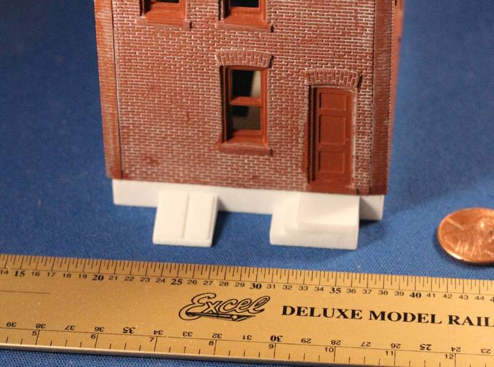 DPM Townhouse #2 Foundation (Block Face townhouse) 3d printed