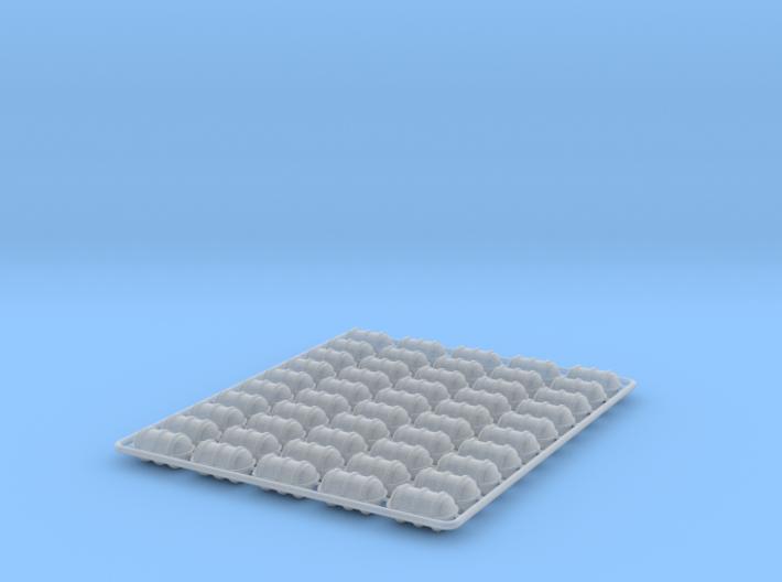 Life Raft x 50 1/144 3d printed